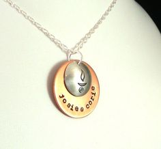 Mixed Metal UU Chalice and Names Necklace - Crow Steals Fire