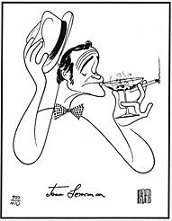 Jack Lemmon Al Hirschfeld Signed Lithograph