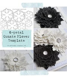 Mel Stampz: 6-petal Ornate Flower template