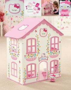 Personalised Hello Kitty Dolls House    £39.99
