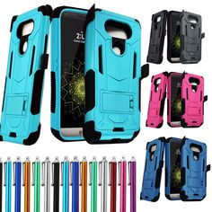 For LG Shockproof Rugged Hybrid Rubber Hard Phone Cover Case + Clip Holster Lg G5, Cool Phone Cases, Phone Cover, Cell Phone Accessories, Phones, Rugs, Awesome, Amp, Ebay
