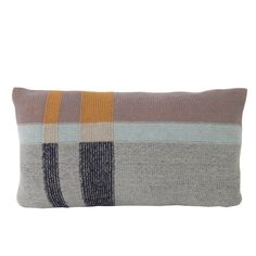Ferm LIVING Medley Knit small cushion in Mint is a mix of shape and texture. Sharp geometric shapes transcend into vivid colour play, blurring the crossing between colour, shape and the soft cotton knitted yarn. Mint medley cushion has two colourways, so is versatile for changing your colour schemes and moods.