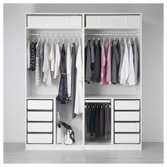 IKEA PAX wardrobe - this is lots of pieces that you buy as a set and put together to form the wardrobe as above. Ikea Pax Wardrobe, Ikea Closet, Bedroom Wardrobe, Wardrobe Closet, Bathroom Closet, Open Wardrobe, Bedroom Closet Design, Closet Designs, Bedroom Decor