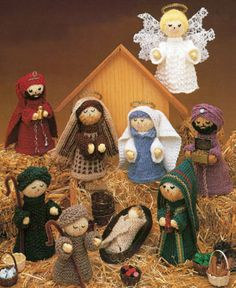 Knit Nativity Scene ePattern - Leisure Arts> This Pattern Costs $4.99 It Was To Cute To Pass Up.