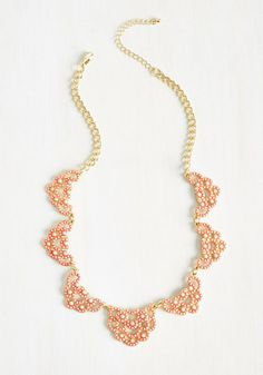 Ravishing Reputation Necklace in Peach | Mod Retro Vintage Necklaces | ModCloth.com