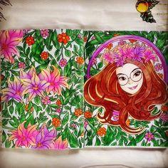 Primeira Tina colorida! #livrosdecolorir #boracolorirtop #tina #tinaolivrodecolorir #artecomoterapia #colorindolivrostop #turmadamonica