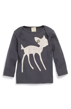 Free shipping and returns on oh baby  'Pink Bambi' Long Sleeve Cotton Top (Baby Girls) at Nordstrom.com. Give your baby a look that's as one-of-a-kind as she is with this adorable top designed with a custom appliqué lovingly hand cut by Minnesota artisans.