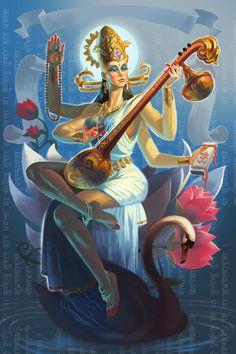 Main %d0%94%d0%b5%d0%b2%d0%b8 %d0%a1%d0%b0%d1%80%d0%b0%d1%81%d0%b2%d0%b0%d1%82%d0%b8 Lord Saraswati, Saraswati Goddess, Goddess Art, Divine Goddess, Saraswati Painting, Lord Shiva Painting, Arte Shiva, Indian Illustration, Shiva Lord Wallpapers