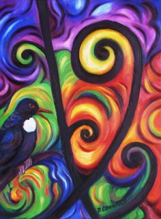 Tui And Koru Print by Dianne  Connolly