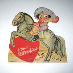 Vintage Novelty Mechanical Valentine Greeting by grandmothersattic, $5.95