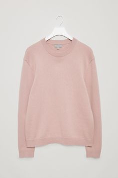 COS image 2 of Knitted sweatshirt in Rose Pink