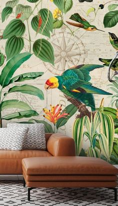Kingdom of Birds Wallpaper Mural by Andrea Haase