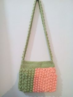 My 6th project is a handbag on bubble stitch and the dtrip is also on bubbles.