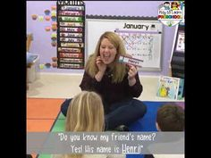 Play to Learn Preschool - a delightful early childhood experience! Join Jamie and Gemma as they share practical ways to implement learning through play for c. Preschool Rules, All About Me Preschool, Kindergarten Songs, Preschool Ideas, Name Activities, Craft Activities For Kids, Preschool Activities, Preschool Name Recognition, Welcome Songs