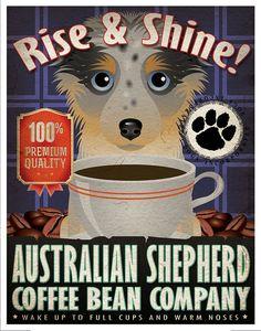Australian Shepherd Coffee Bean Company by DogsIncorporated, $29.00