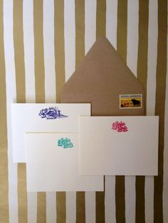 Farm Life Stationery Set, hand stamped and embossed by RHCollection on Etsy, $14.00
