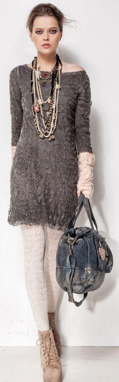 Elisa Cavaletti Kleid Tunika Longshirt Grau S M L XL XXL WE46900 Reduziert | eBay