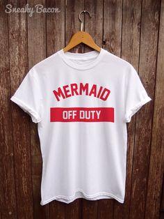 Mermaid tshirt Christmas  funny shirts mermaid by SneakyBaconTees