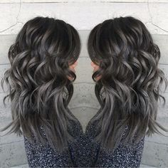 Pewter and Charcoal hair color by Janii Hartt Silver Hair Gray Hair Granny Hair hotonbeauty.com