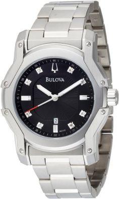 Bulova Men's 96D109 Diamond Black Dial Bracelet « Clothing Adds for your desire