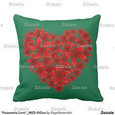 """Poinsettia Love""_MED-Pillow Pillow"