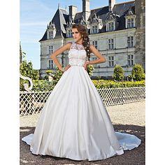 EULALIA - Bröllopsklänning av Satäng - USD $ 197.99