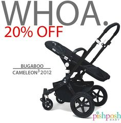 Believe it, baby. Save up to 20% on selected Bugaboo merch - including all- black, and dark grey Cameleon3 2012 frames - as we continue with our Countdown to Black Friday! (Link to site in profile!) #YouAskedForIt  http://pishposhbaby.com/bugaboo-cameleon3-sale.html