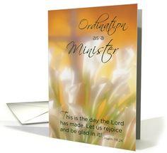 Minister Ordination, Congratulations Christian Ordained card