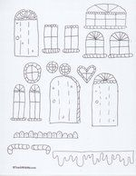 """Gingerbread House Craftivity To make an easy gingerbag, run off the clip art pages on white construction paper. (There are 4 pages of samples.) Students choose, color and cut out whatever pieces they want to glue to the """"back"""" of their gingerbag. Gingerbread House Template, Gingerbread Crafts, Christmas Gingerbread, Gingerbread Houses, Preschool Christmas, Christmas Activities, Kids Christmas, Handout, White Construction Paper"""