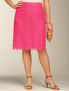 Talbots - Scalloped-Lace A-Line Skirt | Skirts | Woman