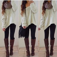 Baggy sweater and leggings