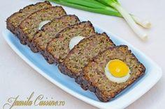 Drob de pui (reteta video) - Culinar.ro Bread Recipes, Keto Recipes, Dinner Recipes, Dessert Recipes, Cooking Recipes, Desserts, Romanian Food, Romanian Recipes, Good Food
