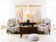 Style a Casual and Collected Corner Seating Area via @domaine