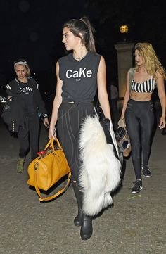 Cara, Kendall, and Gigi headed to Glastonbury in movable leggings, choosing function over high fashion, if just for the night.