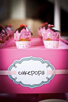 Ice cream cone cake pops- cute idea! Via Kara's party ideas