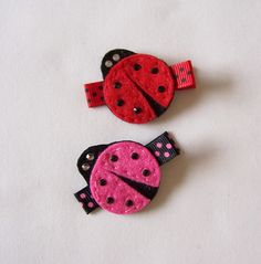 Ladybug Felt Hair Clip  An adorable hot by MasterpiecesOfFunArt, $3.50