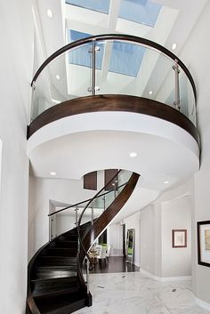 home library with spiral staircase - Google Search
