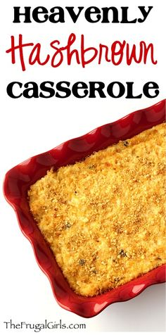 Easy Hashbrown Casserole Recipe! ~ from TheFrugalGirls.com {this yummy potato dish is the perfect addition to your brunch or dinner, and a delicious holiday must-have!} #hashbrowns #casseroles #thefrugalgirls
