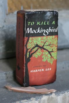 To Kill a Mockingbird - Bookend Door Stop Shelf Decor Repurposed Brick to look like a classic American novel by TheGnakedGnome on Etsy https://www.etsy.com/listing/204332063/to-kill-a-mockingbird-bookend-door-stop