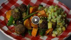 Zoete aardappelschotel met pittige balletjes - recept   24Kitchen