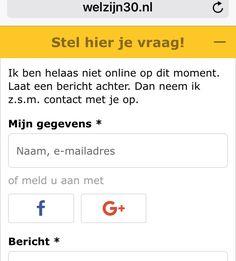 Je kan nu ook (als ik online ben) chatten met WELZIJN 3.0 over socialmediatraining en coaching in het #sociaaldomein www.welzijn30.nl