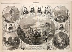 Original sheet celebrating the official formation of the New York City Fire Department, 1866