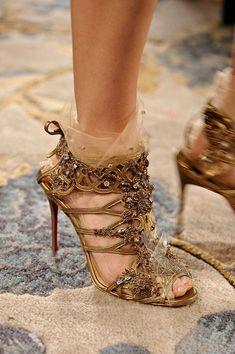 Christian Louboutin for Marchesa Fall 2012 Heels ~ http://labellefabuleuse.tumblr.com/post/17713264587/custom-christian-louboutin-shoes-for-marchesa