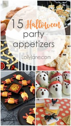 halloween food for party heading to a halloween party and looking for a spooky treat? these 15 Halloween party appetizers are yummy but theyre also eeasy to make! Halloween is o Halloween Desserts, Hallowen Food, Postres Halloween, Recetas Halloween, Soirée Halloween, Halloween Party Appetizers, Halloween Dinner, Halloween Goodies, Halloween Food For Party