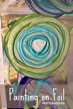 Simple art ideas for kids :: painting on foil