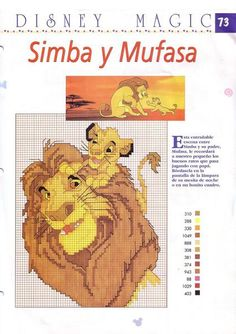 Lion King Cross Stitch Chart//Pattern//Design//XStitch