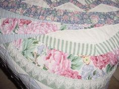 arch quilts ny | Arch Quilt Vintage Collectable Lace Floral 86x94 Large Bedspread by ...