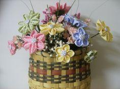 Fabric Flower Bouquet Tutorial   Stemmed Fabric Flowers PDF Tutorial Make a Handmade Spring Bouquet