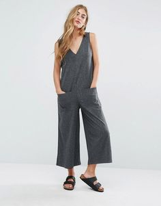Pull&Bear+Ribbed+Oversized+Jumpsuit