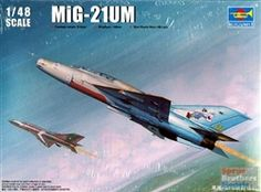 The two-seat MiG-21UM in 1/48 scale from Trumpeter.
